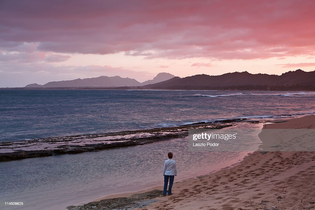 Kauai at sunset : Stock Photo