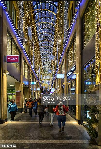 Kaufinger tor passage with new year decorations in Munich.