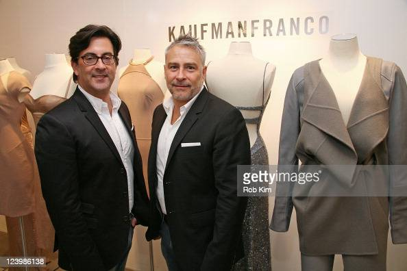 Kaufmanfranco designers Ken Kaufman and Isaac Franco attend the Kaufmanfranco Spring 2012 presentation during Mercedes Benz Fashion Week on September...