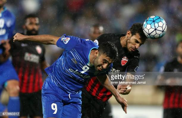 Kaveh Rezaei of Esteghlal in action during AFC Champions League match between Esteghlal vs Al Ahli FC at Azadi Stadium on April 25 2017 in Tehran Iran