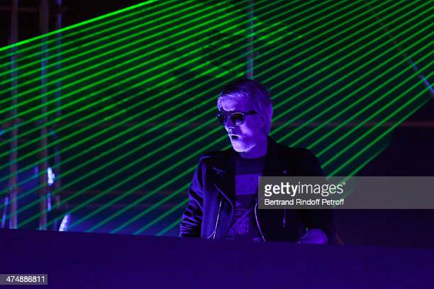 Kavinsky performs at the ETAM show as part of the Paris Fashion Week Womenswear Fall/Winter 20142015 on February 25 2014 in Paris France