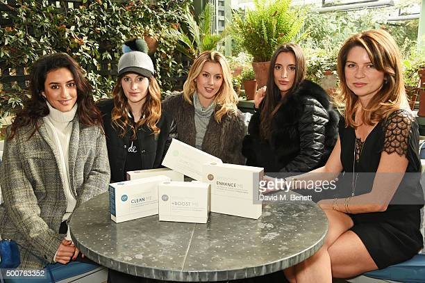 Kavita Cola Rosie Fortescue Caggie Dunlop Lily Fortescue and Gabriela Peacock attend an exclusive brunch hosted by Gabriela Peacock to preview her...