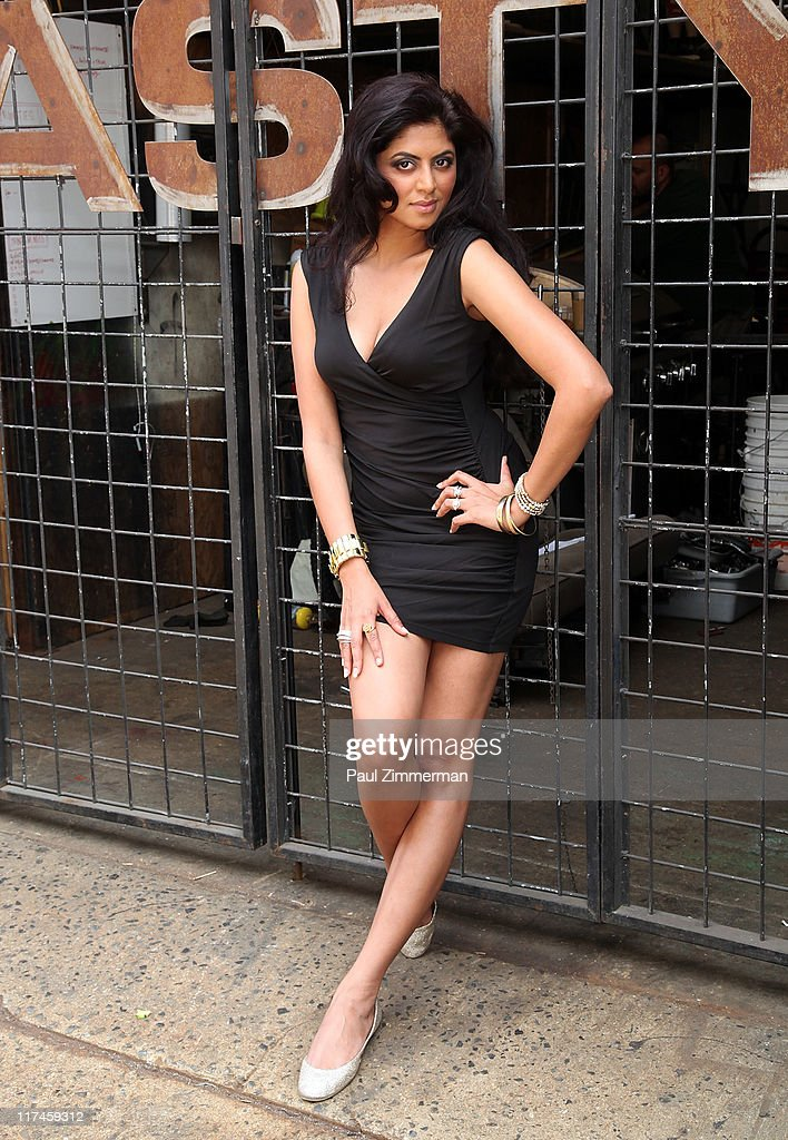 Kavita Kaushik on the set of the Eve to Adam 'Run Your Mouth' music video shoot on the streets of Brooklyn on June 26, 2011 in New York City.