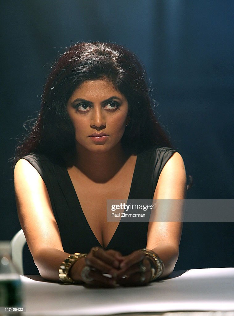 Kavita Kaushik on the set of the Eve to Adam 'Run Your Mouth' music video shoot at Streets of Brooklyn on June 26, 2011 in New York City.
