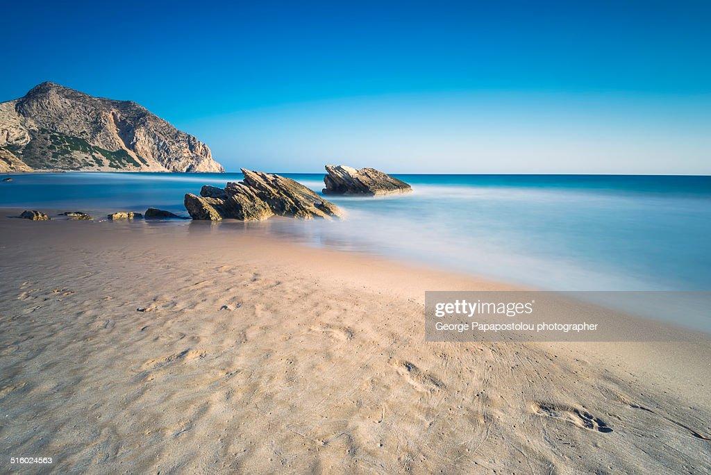 Kavo Paradiso beach in Kos island Greece