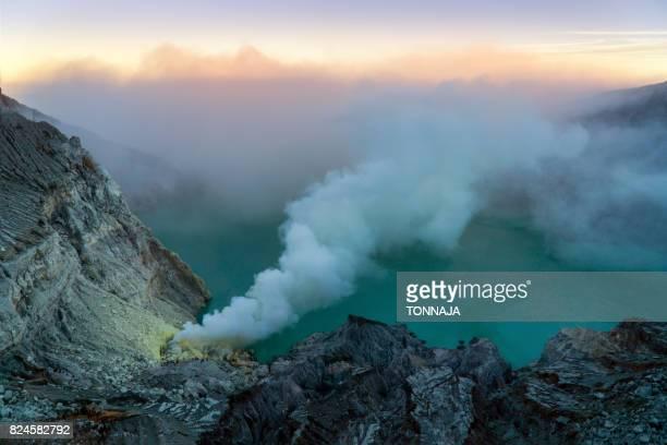 Kawah Ijen Crater, East Java, Indonesia