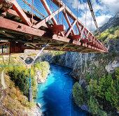 Kawarau River & Suspension Bridge, Queenstown, NZ
