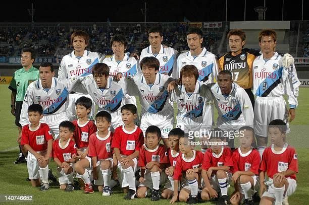 Kawasaki Frontale players Marcus Vinicius de Morais Kengo Nakamura Tomoaki Kuno Yasuhiro Nagahashi Juninho whose real name is Carlos Alberto Carvalho...