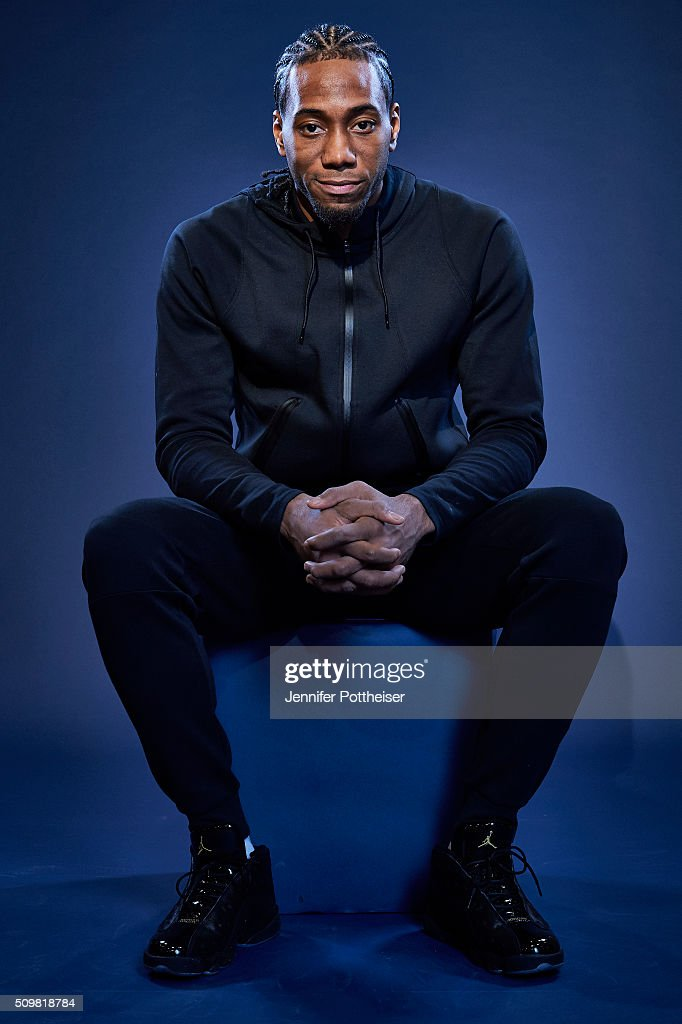 <a gi-track='captionPersonalityLinkClicked' href=/galleries/search?phrase=Kawhi+Leonard&family=editorial&specificpeople=6691012 ng-click='$event.stopPropagation()'>Kawhi Leonard</a> #2 of the San Antonio Spurs poses for a portrait during NBA All-Star Weekend on February 12, 2016 at the Sheraton Centre in Toronto, Ontario Canada.