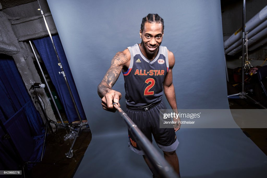Kawhi Leonard #2 of the Western Conference All-Stars poses for a portrait during the NBA All-Star Game as part of 2017 All-Star Weekend at the Smoothie King Center on February 19, 2017 in New Orleans, Louisiana.