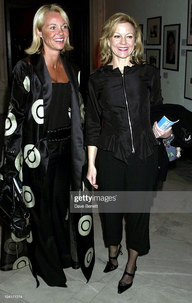 Kay And Friend Amanda, Fashion Photographer Mario Testino Attracted All The Most Glamorous Women In London To His Exhibition At The National Portrait Gallery.