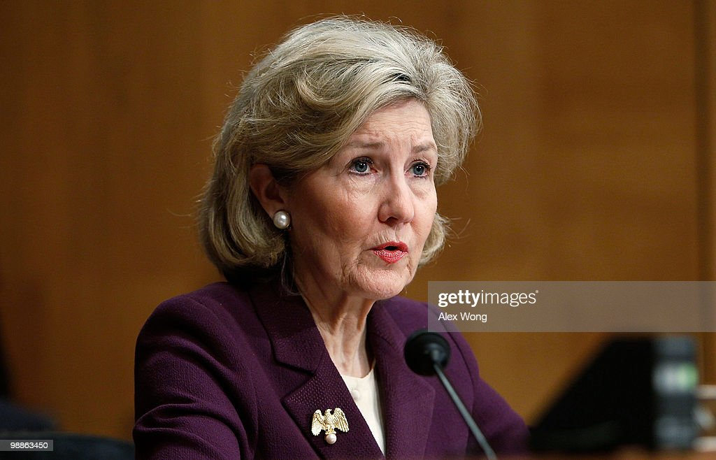 U.S. <a gi-track='captionPersonalityLinkClicked' href=/galleries/search?phrase=Kay+Bailey+Hutchison&family=editorial&specificpeople=218057 ng-click='$event.stopPropagation()'>Kay Bailey Hutchison</a> (R-TX) speaks during a hearing before the Senate Caucus on International Narcotics Control May 5, 2010 on Capitol Hill in Washington, DC. The hearing was to examine the drug trafficking violence in Mexico and how it has been affecting the U.S.