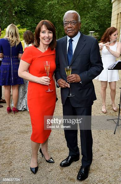 Kay Burley and Trevor McDonald attend The Bell Pottinger Summer Party at Lancaster House on June 7 2016 in London England