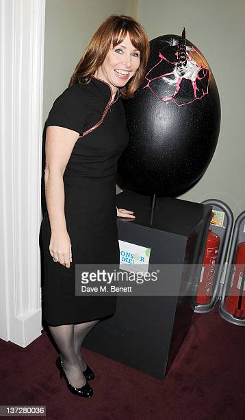 Kay Burley attends the Faberge Big Egg Hunt Champagne Countdown party at Quintessentially on January 18 2012 in London England