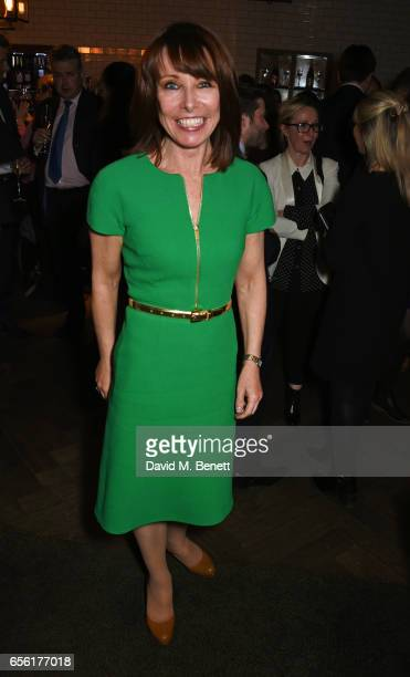 Kay Burley attends the launch of new book 'The Women Who Shaped Politics' By Sophy Ridge at the Blue Boar Bar on March 21 2017 in London England