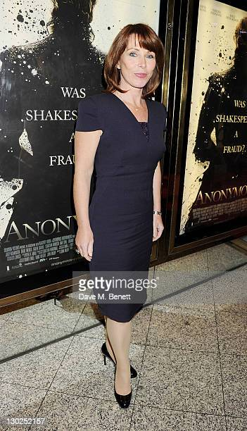 Kay Burley attends the premiere of 'Anonymous' during the 55th BFI London Film Festival at Empire Leicester Square on October 25 2011 in London...