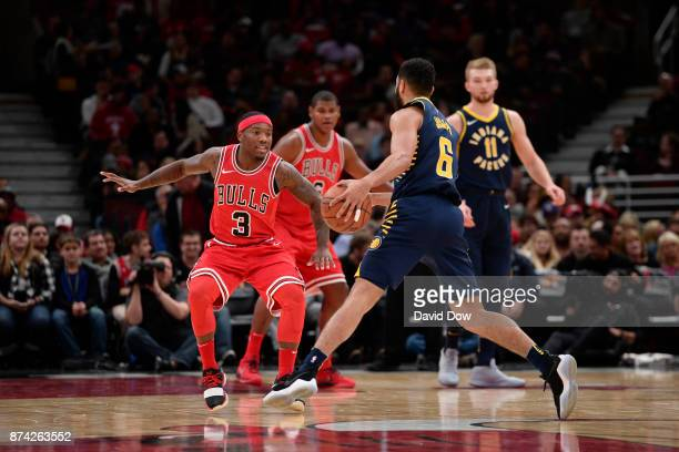 Kay Felder of the Chicago Bulls defends against the Indiana Pacers on November 10 2017 at the United Center in Chicago Illinois NOTE TO USER User...