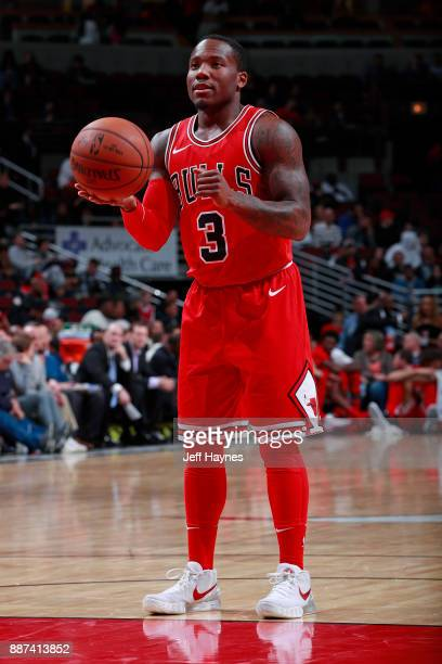 Kay Felder of the Chicago Bulls handles the ball against the Cleveland Cavaliers on December 4 2017 at the United Center in Chicago Illinois NOTE TO...