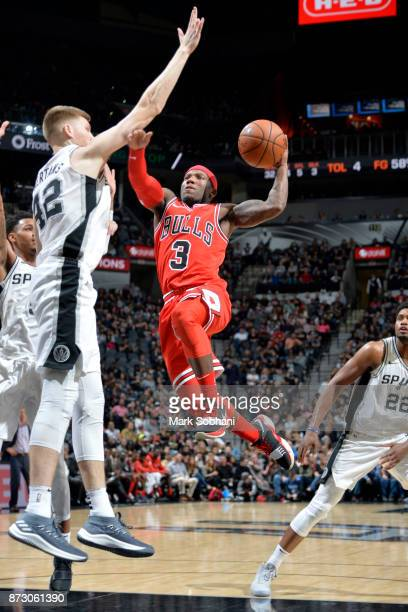 Kay Felder of the Chicago Bulls shoots the ball against the San Antonio Spurs on November 11 2017 at the ATT Center in San Antonio Texas NOTE TO USER...