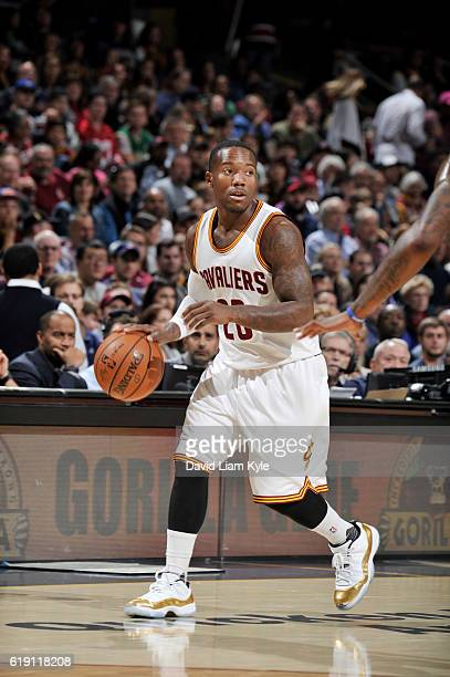 Kay Felder of the Cleveland Cavaliers handles the ball against the Orlando Magic on October 29 2016 at Quicken Loans Arena in Cleveland Ohio NOTE TO...
