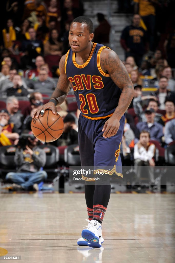 Kay Felder #20 of the Cleveland Cavaliers handles the ball against the Chicago Bulls on February 25, 2017 at Quicken Loans Arena in Cleveland, Ohio.
