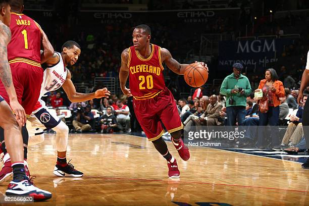 Kay Felder of the Cleveland Cavaliers handles the ball during the game against the Washington Wizards on November 11 2016 at Verizon Center in...