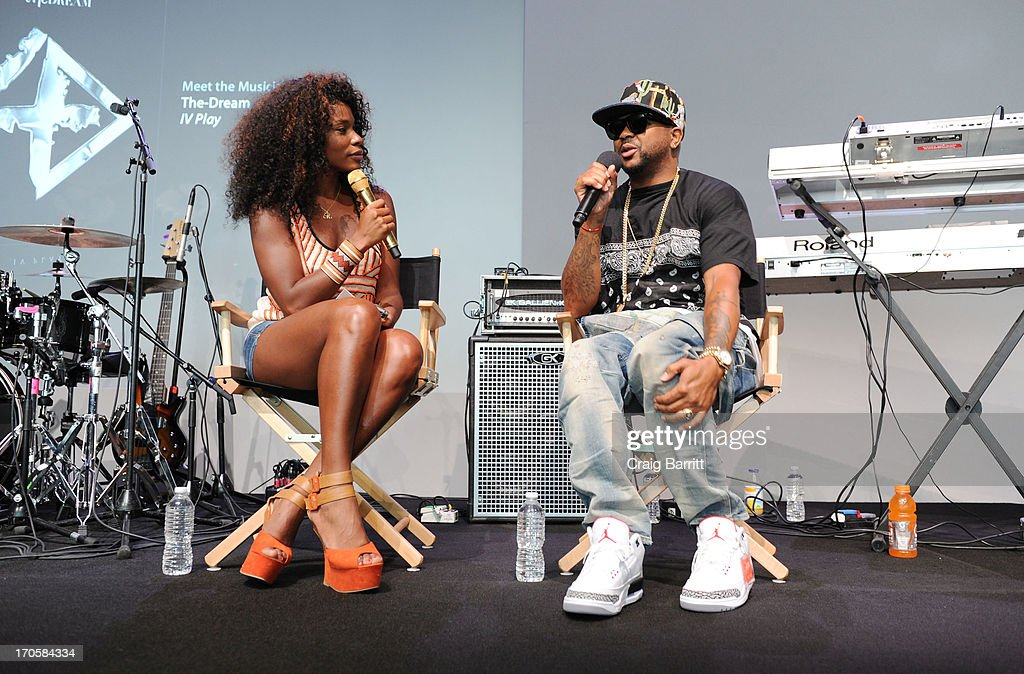 Kay Fox and Terius The-Dream Nash attend Meet the Musician at Apple Store Soho on June 1, 2013 in New York City.