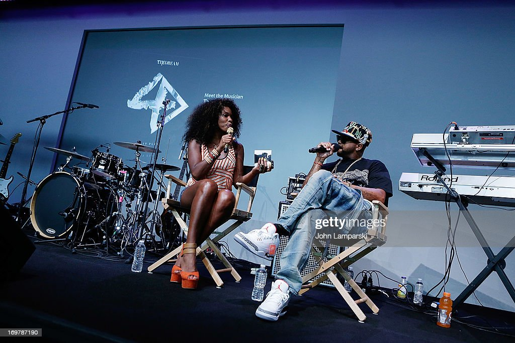 Kay Fox and The-Dream attend Meet the Musician at Apple Store Soho on June 1, 2013 in New York City.