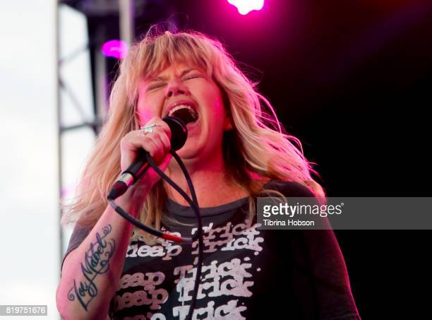 Kay Hanley of Letters to Cleo performs at The Grove summer concert series at The Grove on July 19 2017 in Los Angeles California