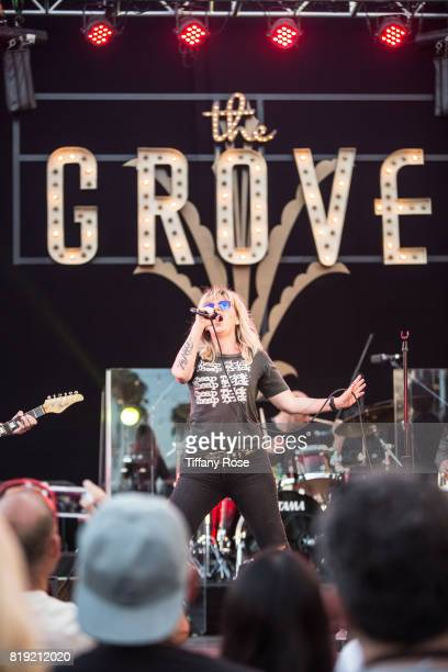 Kay Hanley of Letters to Cleo performs onstage during The Grove's Summer Concert Series Presented by Citi at The Grove on July 19 2017 in Los Angeles...