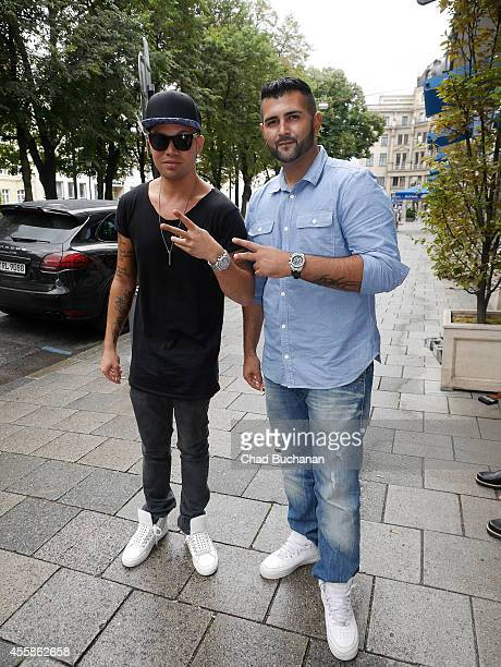 Kay One and DJ Farock sighted on September 21 2014 in Munich Germany