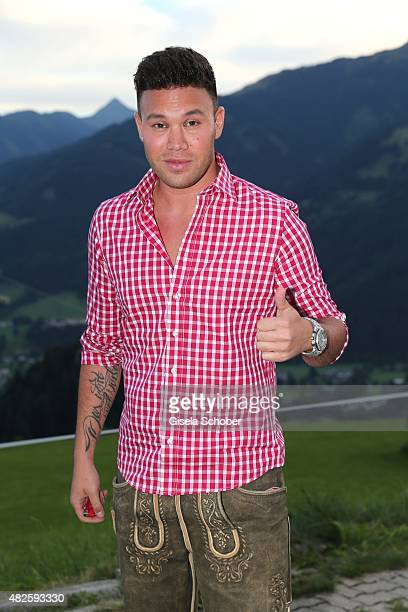 Kay One during the 12th Almrauschparty at Rosi's Sonnbergstuben on July 31 2015 in Kitzbuehel Austria