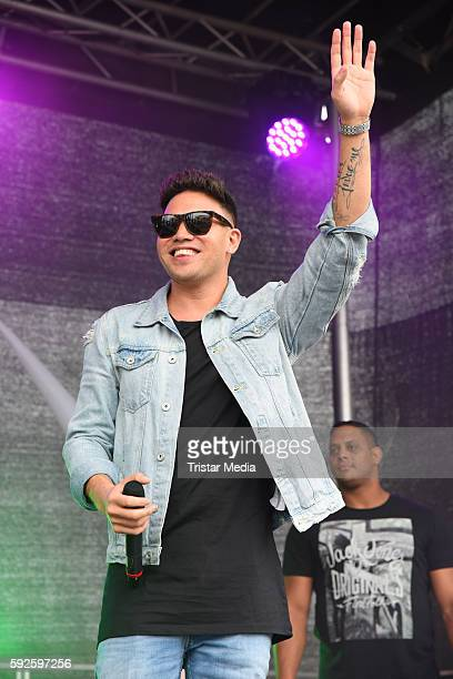 Kay One performs at the Kinderhospiz Charity Open Air at Helvetiaparc on August 20 2016 in GrossGerau Germany