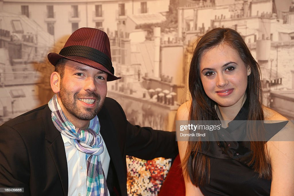 Kay Rainer and Elena Maurer attend the opening of the Roche Bobois shop on January 31, 2013 in Munich, Germany.