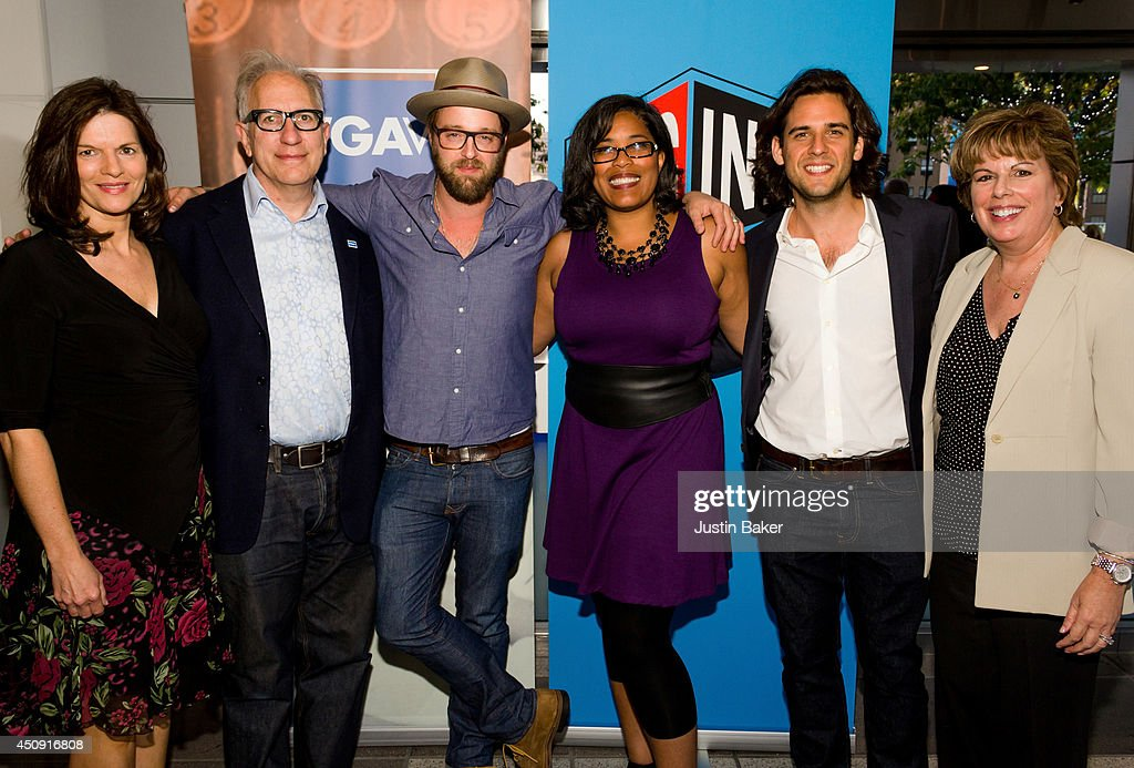 Kay S Wolf Howard A Rodman Josh Leonard Darrien Gipson Robert Patino and Ilyanne Morden Kichaven attend the SAGWGA Party during the 2014 Los Angeles...