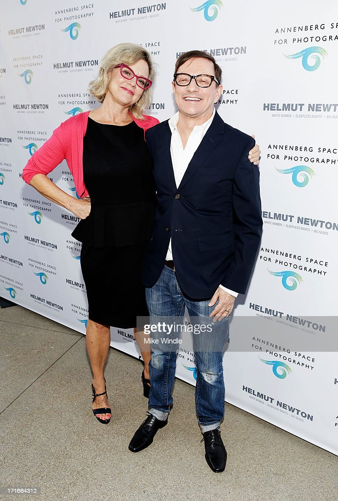<a gi-track='captionPersonalityLinkClicked' href=/galleries/search?phrase=Kay+Saatchi&family=editorial&specificpeople=581717 ng-click='$event.stopPropagation()'>Kay Saatchi</a> (L) and Matthew Rolston attend the Helmut Newton opening night exhibit at Annenberg Space For Photography on June 27, 2013 in Century City, California.