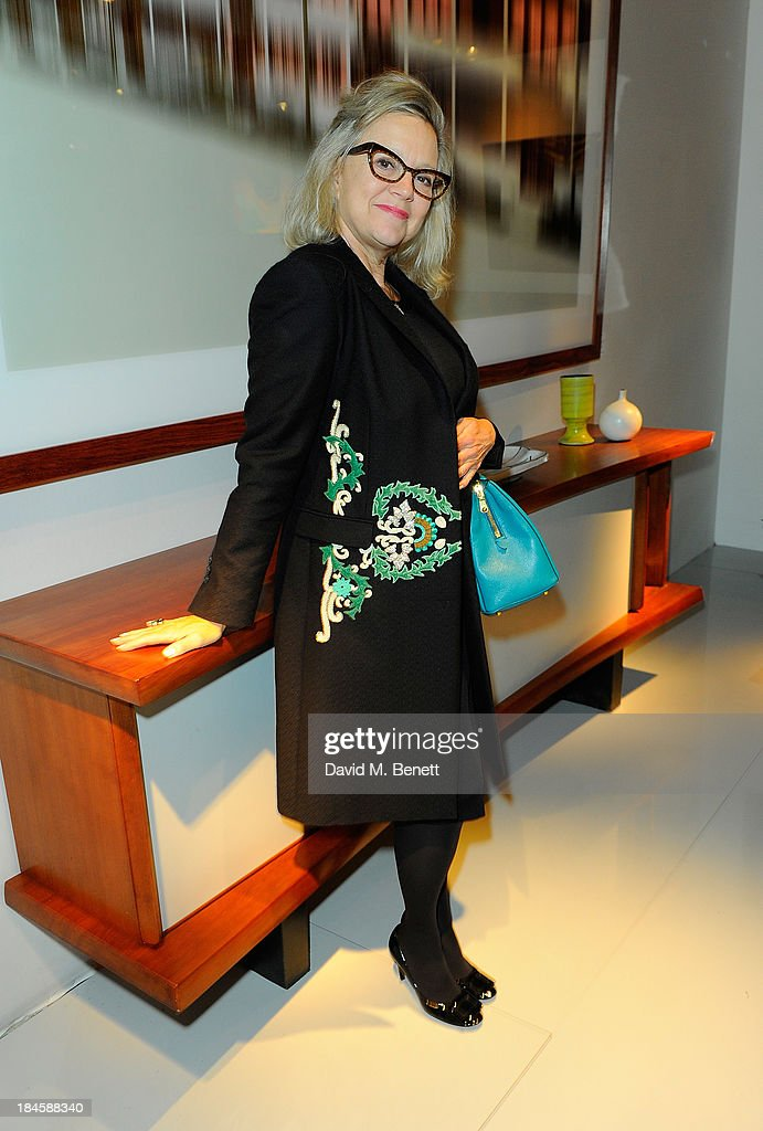 <a gi-track='captionPersonalityLinkClicked' href=/galleries/search?phrase=Kay+Saatchi&family=editorial&specificpeople=581717 ng-click='$event.stopPropagation()'>Kay Saatchi</a> attends the Moet Hennessy London Prize Jury Visit during the PAD London Art + Design Fair at Berkeley Square Gardens on October 14, 2013 in London, England.
