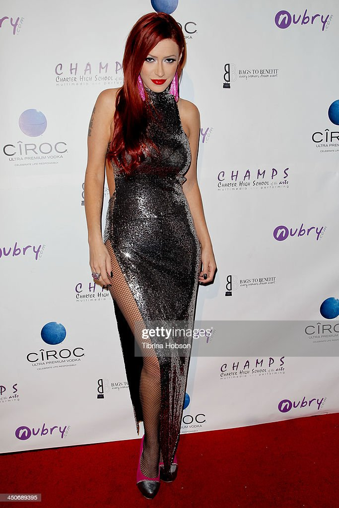 Kaya Jones attends the 'Bags To Benefit' charity evening for CHAMPS High School of the Arts at Tru Hollywood on November 19, 2013 in Hollywood, California.
