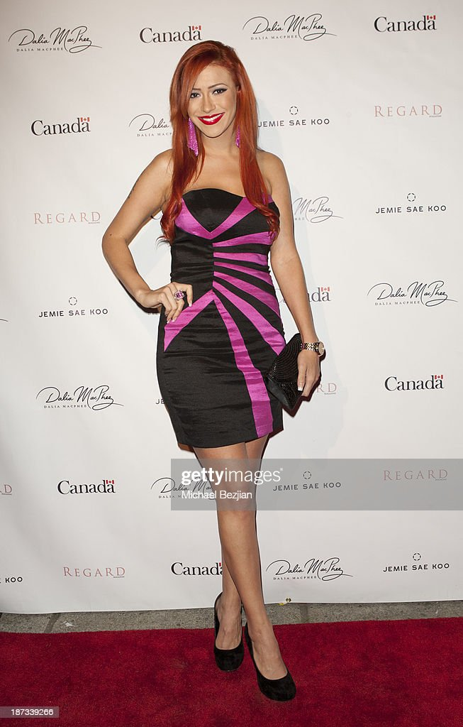 <a gi-track='captionPersonalityLinkClicked' href=/galleries/search?phrase=Kaya+Jones&family=editorial&specificpeople=601338 ng-click='$event.stopPropagation()'>Kaya Jones</a> attends The Consul General Of Canada Mr. David Fransen Honors Canadian Fashion Designer, Dalia MacPhee on November 7, 2013 in Los Angeles, California.