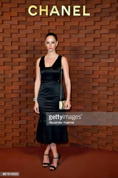 Kaya Scodelario arrives for the Chanel Collection Metiers d'Art Paris Hamburg 2017/18 at The Elbphilharmonie on December 6 2017 in Hamburg Germany