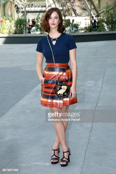 Kaya Scodelario attends the Chanel Haute Couture Fall/Winter 20172018 show as part of Haute Couture Paris Fashion Week on July 4 2017 in Paris France