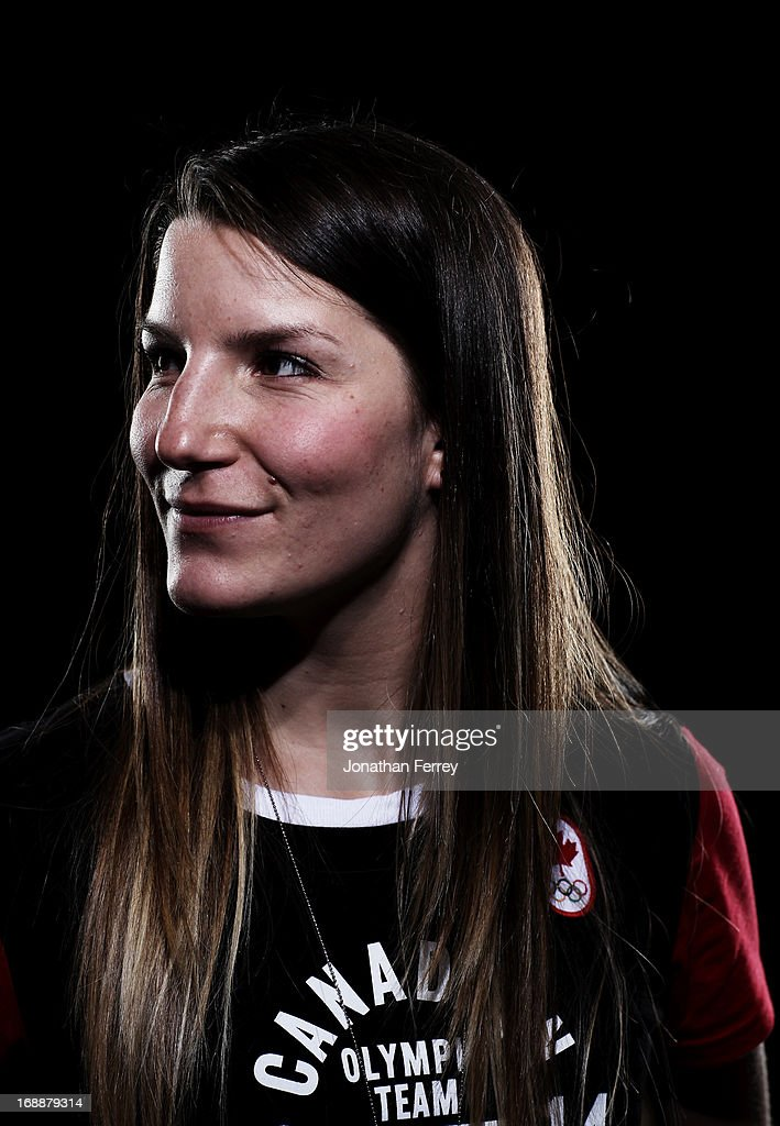 Kaya Turski poses for a portrait during the Canadian Olympic Committee Portrait Shoot on May 13, 2013 in Vancouver, British Columbia, Canada.