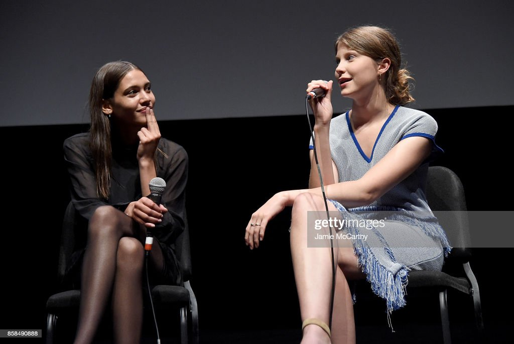 Kaya Wilkins and Eili Harboe attend the 55th New York Film Festival - 'Thelma' at Alice Tully Hall on October 6, 2017 in New York City.