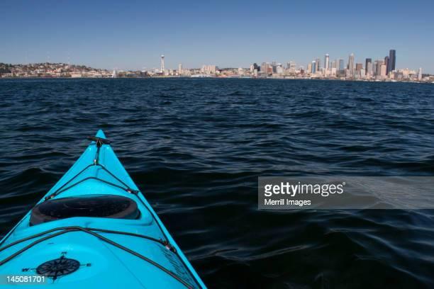 Kayak and Seattle skyline