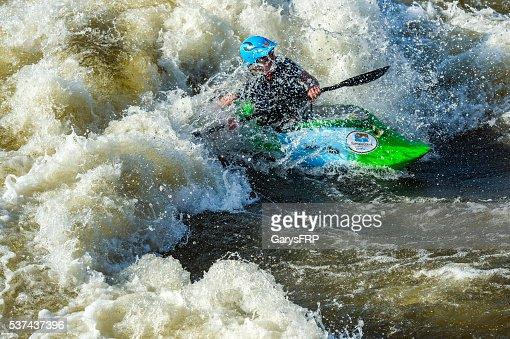 Kayak Deschutes River Bend Whitewater Park Bend Oregon