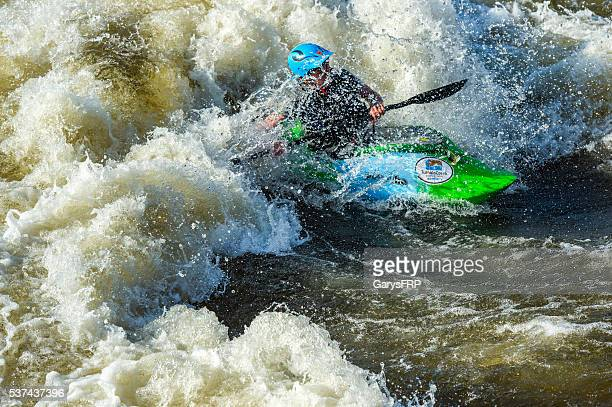 Kayak Deschutes River Bend Whitewater Park Bend Oregon
