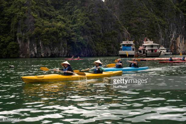 Kayak tours are one of the attractions of Halong Bay in Vietnam The bay of Ha Long is an extension of water of approximately 1500 km ² Located north...