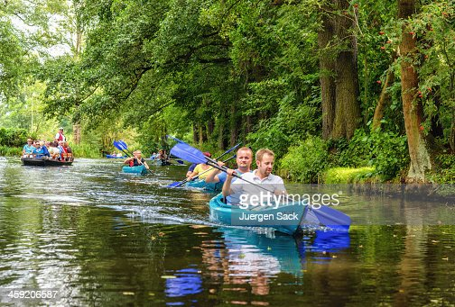 Kayaking and ark cruising in the Spreewald