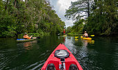 Kayakers and a Paddleboard on the Silver River in the Ocala National Forest.