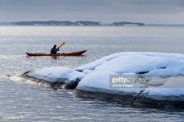 Kayaking at winter